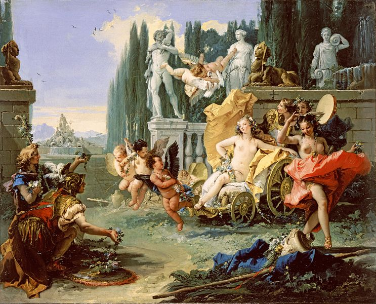 The Triumph of Flora (ca. 1743),  by Giovanni Battista Tiepolo