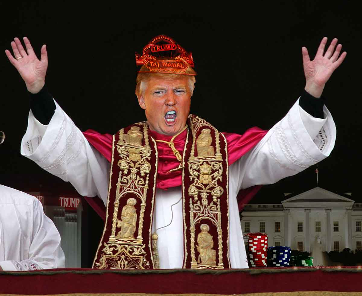 Donald Trump as Pope for President